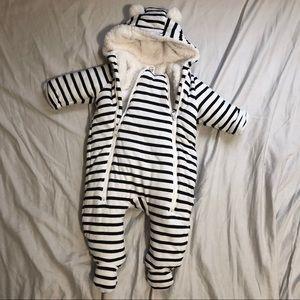 Striped Snowsuit